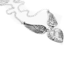 Angel Wing Necklace by pila12903