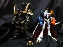 Alphamon and Omegamon/ ALPHA AND OMEGA digimon by johnsis2