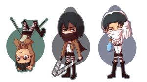 Attack on Titan chibis by HasegawaVega