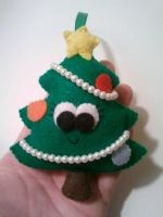 Connie the Christmas Tree Felt Ornament by msmegas