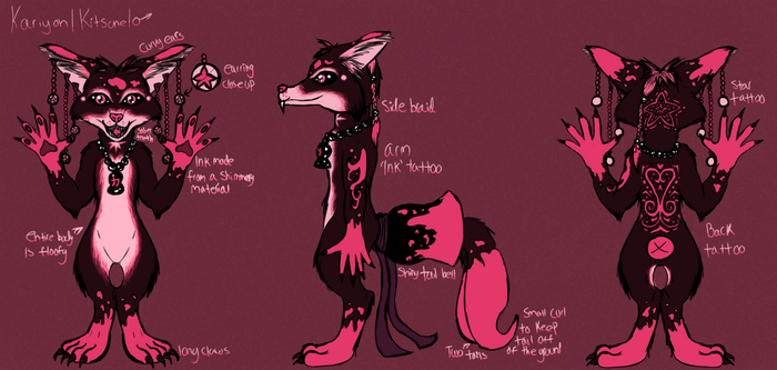 Kariyon Fursuit Reference by CarillonNightmares
