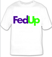 fed up green t-shirt by Z-ComiX
