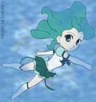 sailor neptune in the water by Blackmoonrose13