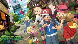 Ash/Satoshi and Serena by Empire-of-PokeJapan