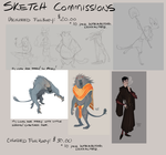 Commission me for a sketch! Furries/Animals only by GreekCeltic