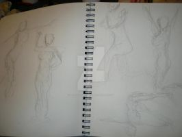 Gesture Drawings 4 by Jennawinsatart