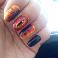 The eye of Sauron nails  by Danonea