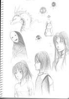 Spirited Away Sketches by chazzatron