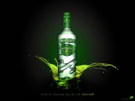 smirnoff - green apple by Rozairo