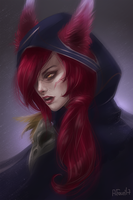 League of Legends - Xayah by A-Faun