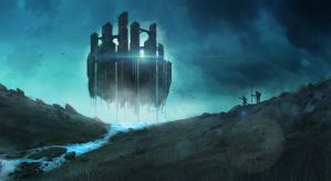 Floating Ruins by Enthing