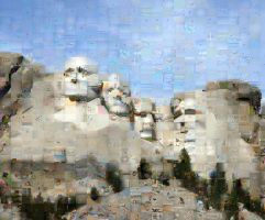 Mount Rushmore Mosaic by Wynnyelle