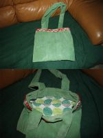 Green turtle bag by moordred-fangirl