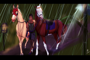 Rainy afternoon training - Amir and Aryan by jassukassu