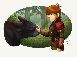 How to train your Dragon 2 - Toothless and Hiccup by kfcomics