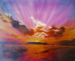 sun set (SOLD) by ekosyaiful