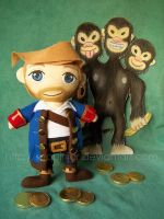 Guybrush Threepwood Mighty Plushie! by sequinjar
