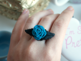 Blue Rose Ring by kittykaya