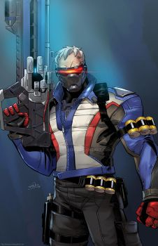Soldier 76 Overwatch Art by SaviorsSon