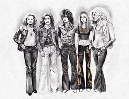 Led Zeppelin and Groupie by LaceyAndTheLevee