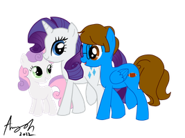 :RQ: Blaine with Rarity and Sweetie Belle by Amy-Oh