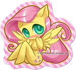 Chibi Pinup Pony Fluttershy by sererena