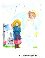 France and Jeanne :WATERCOLOR: by Kill-Bloody-Rosesxxx