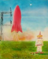 Rocket and Clown by hyperjet