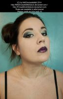 Gothic Makeup Woman Portrait Stock 001 by MADmoiselleMeliStock