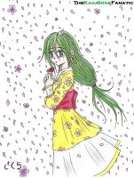 Girl and Petals by TheKagamineFanatic