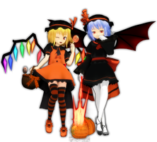 Halloween Scarlet Sisters by PachiPachy