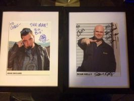 Sean Kelly and Jesse McClure Signature Framed by extraphotos