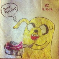 NapkinArt - 002 - Bacon Pancakes - Adventure Time by PeterParkerPA