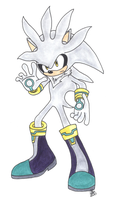 Silver the Hedgehog by sasukekakashi12