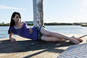 Emma on the jetty 1 by wildplaces