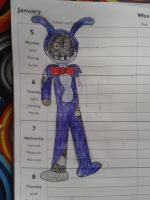 A quick withered bonnie sketch by EndergirlCobblestone