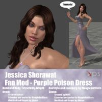 Jessica Sherawat Fan Mod Purple Poison Dress by Adngel
