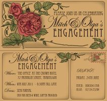 nouveau invitations by KateRodrigues