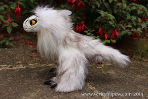 Snowy Owl Raptor-Dragon Art Doll by Creature-Cave