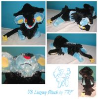 v3 Luxray plush by teenagerobotfan777