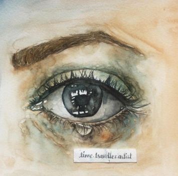 Eyes say it all - Watercolor Painting by ParkashN