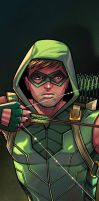 Green Arrow Panel Art by RichBernatovech