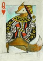 Queen of Hearts: Sly Fox ACEO by SethFitts