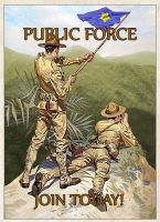 Public Force Poster, c.1930 by edthomasten