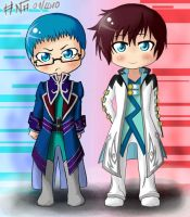 ToG Chibis - Hubert and Asbel by Dareedse