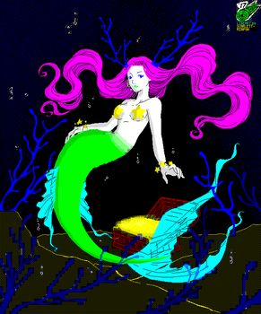 A Mermaid in ZX Spectrum form by OUTMACED121