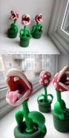 Piranha Plant Sculptures by Olechka01