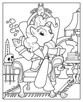 Pinkie Pipe -Line Art- by Smashinator