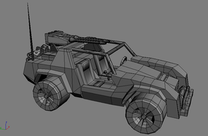 low poly game Vehicle by jomet