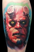 Hellboy by maximolutztattoo